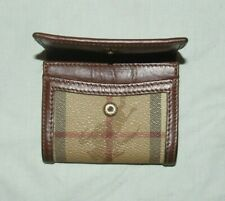 BURBERRY - MINI LEATHER CLASSIC COIN PURSE - FAB CONDITION - GREAT PATINA