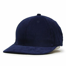 NEW Solid Corduroy Low Profile Baseball Cap Navy winter hat strapback gift
