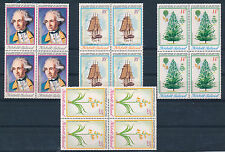 NORFOLK ISLAND 1974 BICENTENARY CAPT COOK'S DISCOVERY SG152/155 BLOCKS OF 4 MNH