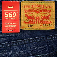 Levis 569 Jeans New Mens Loose Straight Sz 32 x 34 CALIFORNIA Levi's NWT #322