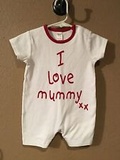 Nwot Next Baby I Love Mummy Romper Size 3-6 Months Baby Boy Or Girl 3-6 Months