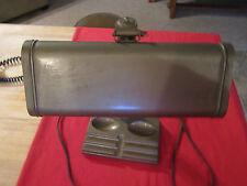 Industrial,shop, vintage office desk lamp,adjustable,older metal,plastic-pat.pen