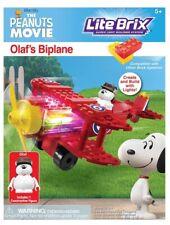 Lite Brix The Peanuts Movie: Olaf's Biplane kit #57006 New 2015