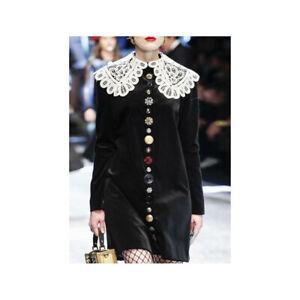 Elegant Women's Retro Velvet Palace Runway Dresses Long Sleeve Slim Dinner Gown