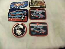 6 VINTAGE Nascar Winston Cup  Racing PATCHES Petty Earnhardt NOS Embroidered