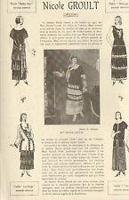 PARIS MAISON NICOLE GROULT MODE PUBLI-REPORTAGE ANNEES 1920