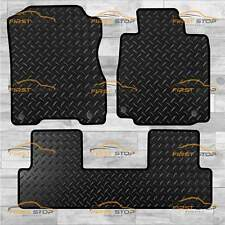 HONDA CR-V 2012-ON 3PCE WITH CLIPS TAILORED 3MM RUBBER HEAVY DUTY CAR FLOOR MATS