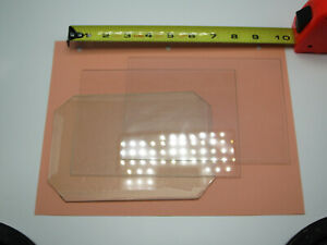 lot of 3 - 5x7 Glass for contact printing, negative carriers, etc.
