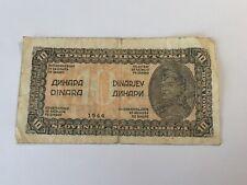 Billet Yougoslavie 10 Dinara 1944