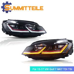 LED DRL Scheinwerfer Für 13-17 VW Golf7 MK7 TDI TSI Mit Dynamischer Blinkleuchte