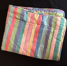 Vtg. Collier Campbell ONE Standard Pillow Sham TAMBOURINE Multi Color Stripes