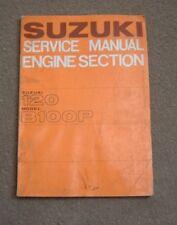 N.1966 n.ORIGINALE SUZUKI manuale officina motore pezzi 120 modello B100P B 100