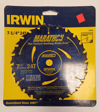 "Irwin 7-1/4"" x 5/8"" Arbor Hole 24T Wet & Dry Cut Saw Blade Carbide Tips 9B-D0026"