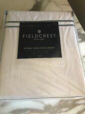 New Fieldcrest Supima Satin Stitch Hotel Sheet Set Full size