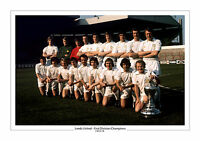 1974 FIRST DIVISION CHAMPIONS LEEDS UNITED TEAM A4 PRINT PHOTO REVIE TEAM UTD 2