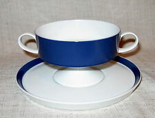 Rosenthal Composition Cobalt Cream Soup Bowl and Saucer