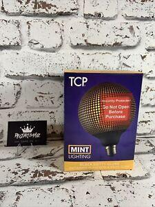 BNIB 1x TCP Black Dotty Globe Patterned Glass with a warm glow Brand New Sealed