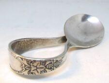 Wm. Rogers Silverplate Curved Baby Spoon  1934  BURGANDY aka CHAMPAIGNE