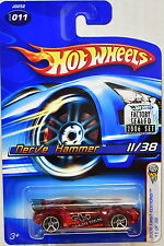 HOT WHEELS 2006 FIRST EDITIONS NERVE HAMMER #011 RED FACTORY SEALED
