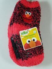 New 3 Pairs Soft & Cozy Sesame Street ELMO Slipper Socks, Sz 18-24 Months