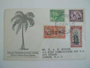 SAMOA 1946 FDC PEACE COOMEMORATIVE ISSUE