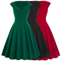 Lady Retro Vintage Party Evening Dress Wiggle 50s Pinup Swing Prom Cocktail Mini
