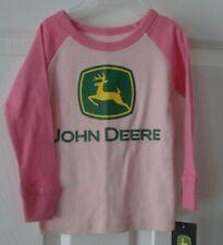 John Deere Infant Girl's Pink Long Sleeve Shirt Size 18 Months New