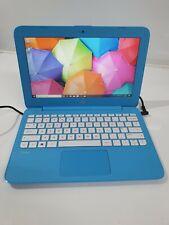 """HP Stream 11-AH0XX Intel Celeron N3060 1.6GHz 32GB SSD 11.6"""" Windows 10 Blue"""
