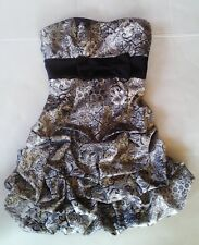 Prom dress Ruby ROX Black & silver Party Womans formal gown Short Fitted Size 5