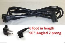 New 2 Prong Right angled 90 degree 6ft power cord for samsung Philips Sony TV