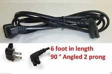 New 6FT Foot Feet US 2 pin angled IEC 320 C7 power cord For Samsung LCD LED TV'S