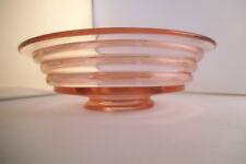 Vintage Duncan Miller ? Ripple Pink Glass Footed Bowl