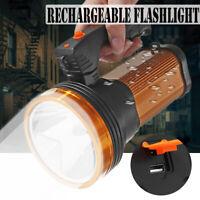 Super Helle LED Suchscheinwerfer Wiederaufladbar Taschenlampe USB