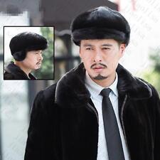 Genuine Winter Men Real New Mink Fur Hat Cap Headgear Beanie Beret   QS 0041