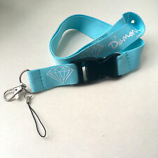 Diamond Supply Co  Lanyard Key Chain in Blue Urban Street Wear Supreme Necklace