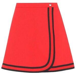 Gucci Felted Jersey Wrap Mini Skirt Size XS