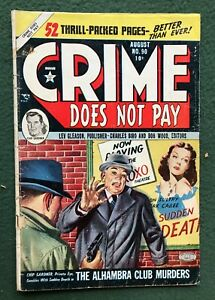 Crime Does Not Pay #90 Lev Gleason Pub Golden Age All True Illustories 1950 vg-