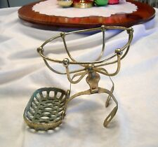 Antique Victorian BRASS CLAW FOOT TUB BATH Shower Sponge Soap HOLDER CADDY