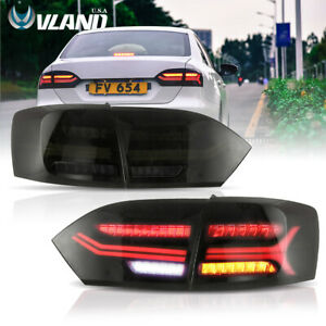 Audi Look LED Tail Lights For VW Jetta 2011-2014 Smoked Tinted Rear Light