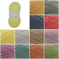 Sirdar Snuggly REPLAY DK Weight Cotton Acrylic Knitting/ Crochet Yarn 50g Ball