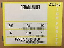 """Ceramic Fiber Blanket  1/2""""x 24""""x 50' 6# Dens"""