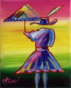 Umbrella Girl #1 Pop Art Painting Art Print Limited Edition Signed Mira COA