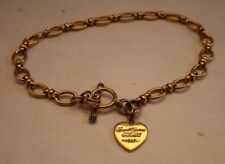Juicy Couture heart tag bracelet, gold
