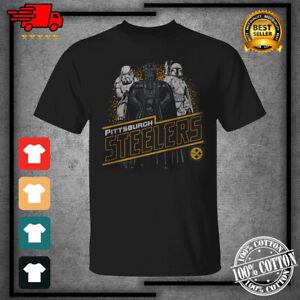 Men's 2021 Pittsburgh Steelers Junk Food Empire Star Wars Black T-Shirt