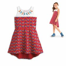 American Girl CL KAYA HIGH LOW HEM DRESS Size 12 for Girls Native Indian Red NEW