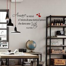 wall stickers frase frasi adesivi murali arredo camera oscar Wilde vita amore
