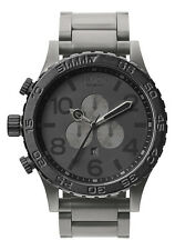 Genuine Nixon Watch 51-30 Chrono A083-1062 MATTE BLACK GUNMETAL New A0831062