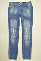 CATO Size 8 Womens Skinny DESTROYED Holes DISTRESSED Medium Wash Stretch Jeans