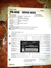 ROLAND TR-808 TR808 REPAIR / SERVICE NOTES MANUAL