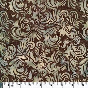 Hoffman Priced per ½ yd Bali Chop Batik L2610-51 Fourlard Chestnut